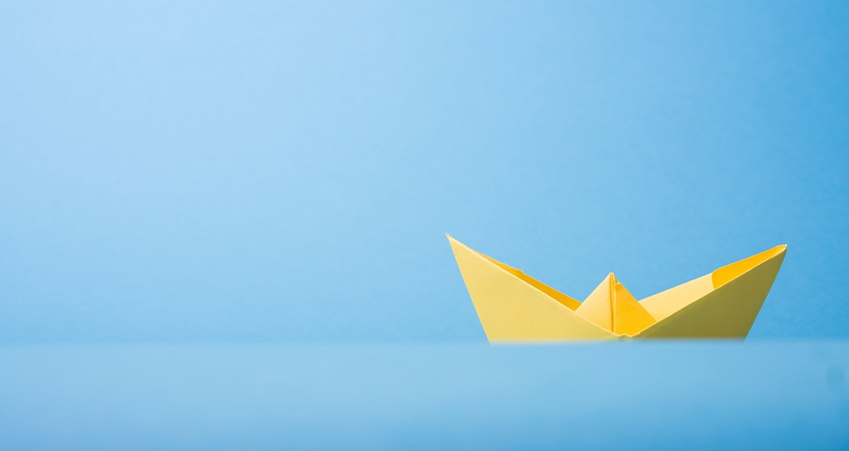 Yellow paper boat